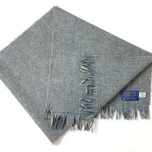 "Pendleton Made USA Grey Check Wool Scarf 51"" X 12"""